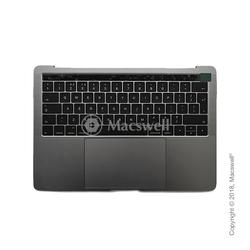 """Корпус в сборе Fully Assembled Topcase for MacBook Pro Retina 13"""", A1706, раскладка UK, цвет Space Gray. Оригинал"""