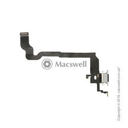 Шлейф с разъемом Lightning и микрофоном для iPhone X, цвет белый