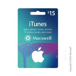 Подарочный сертификат Apple iTunes Gift Card $15, US