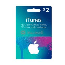 Подарунковий сертифікат Apple iTunes Gift Card $ 2, US