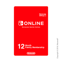 Nintendo Switch Online, членство для семей 12 месяцев, RU регион